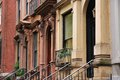 New york city turtle bay united states old brownstone townhouses in neighborhood in midtown manhattan Royalty Free Stock Photography