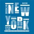 NEW YORK CITY TYPOGRAPHY GRAPHIC T SHIRT DESIGN
