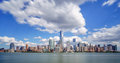 New york city under dramatic clouds Stock Image
