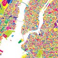 New York City, United States, colorful vector map Royalty Free Stock Photo