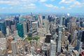 New york city united states midtown manhattan skyline aerial view Royalty Free Stock Images