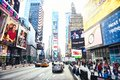 New York City, United States - November 2, 2017: Manhattan`s view of 7th Avenue near Time Square Royalty Free Stock Photo