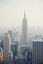 New York City view with Empire State building Royalty Free Stock Images