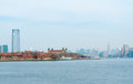 New york city view of from liberty island Stock Image