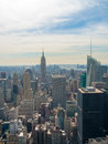 New york city view of from the rockefeller center Stock Photo