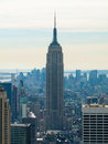 New york city view of from the rockefeller center Stock Image