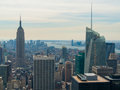 New york city view of from the rockefeller center Royalty Free Stock Photography