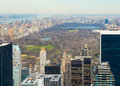 New york city view of from the rockefeller center Stock Images