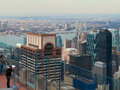 New york city view of from the rockefeller center Royalty Free Stock Image
