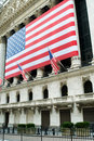 New York city  Wall street and stock exchange Royalty Free Stock Photo