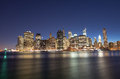 New york city wonderful summer sunset view of lower manhattan skyline Stock Image