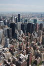 New york cityscape aerial view of city skyline america Stock Photography