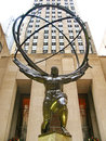 NEW YORK - DECEMBER 3:: The Atlas Statue at the Rockefeller Cent Stock Photos