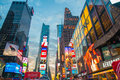 New york december times square on stock photography concept for usage Royalty Free Stock Images