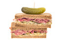 New York deli pastrami sandwich Royalty Free Stock Images