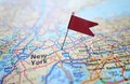 New York flag map Royalty Free Stock Photo