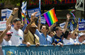 New York  gay pride Stock Photos
