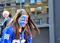 New York Giants Fan Stock Photography