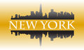 New york gold city high rise buildings skyline Royalty Free Stock Images