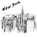 New york hand drawn illustration Royalty Free Stock Photography