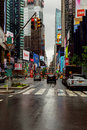 NEW YORK - JULY 2017: New York City street road in Manhattan at summer time. Urban big city life concept background. Royalty Free Stock Photo