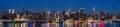 New York midtown panorama at dusk Royalty Free Stock Photo