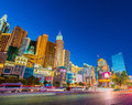 New york new york casino on december las vegas in las vegas is one of the famous vegas casinos Royalty Free Stock Image