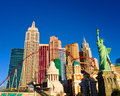 New york new york casino in las vegas early morning sunlight brightens up the hotel on the world famous strip of nevada Stock Image