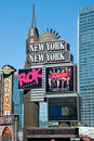 New york new york on the las vegas strip september september in usa its architecture is meant to evoke Royalty Free Stock Photography