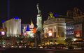 New york new york located on the las vegas strip is shown in las july replica of statue of liberty ft m and Royalty Free Stock Images