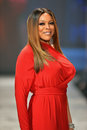 NEW YORK, NY - FEBRUARY 06: Wendy Williams wearing Kamali Kulture walks the runway at The Heart Truth's Red Dress Collection durin Royalty Free Stock Images