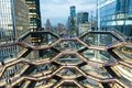 New York, NY - March 15 2019: The Vessel Building in Hudson Yards Manhattan Opened Royalty Free Stock Photo