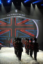 New york ny november british military drummers opening british invasion segment of victoria s secret fashion show at lexington Royalty Free Stock Image