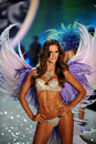 New york ny november model izabel goulart walks the runway at the victoria s secret fashion show lexington avenue armory on Royalty Free Stock Images