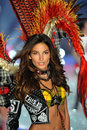 New york ny november model lily aldridge walks in the victoria s secret fashion show at lexington avenue armory on Stock Photos
