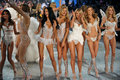 New york ny november models walk the runway finale at the victoria s secret fashion show lexington avenue armory on in Stock Image
