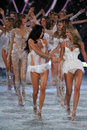 New york ny november models walk the runway finale at the victoria s secret fashion show lexington avenue armory on in Stock Photo