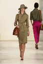 New york ny september a model walks the runway at ralph lauren spring fashion collection Foto de archivo