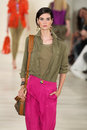 New york ny september a model walks the runway at ralph lauren spring fashion collection Fotos de archivo