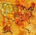 new york on map of usa Royalty Free Stock Photo