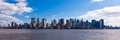 New york panoramic view of manhattan skyline usa Royalty Free Stock Image