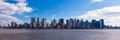 New york panoramic view of manhattan skyline usa Royalty Free Stock Image