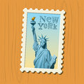 New York postage stamp Royalty Free Stock Images