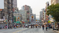 New york sep busy intersection at canal and center street on september in manhattan new york new york is the united states most Royalty Free Stock Image