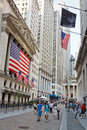 New york sep pepple walk front new york stock exchange wall street september new york nyse one most important stock exchanges Stock Photos
