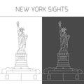 New York sights. Statue of Liberty