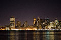 New York Sky Line at night Royalty Free Stock Photo