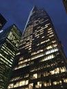 New York Sky Scraper at night Royalty Free Stock Photo