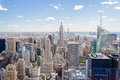 New york skyline panorama over manhattan from the top of the rocks observation deck Royalty Free Stock Photography