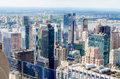 New york skyline panorama over manhattan from the top of the rocks observation deck Royalty Free Stock Photos